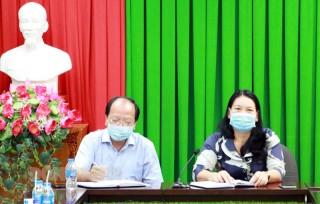 Phó chủ tịch UBND tỉnh họp với các huyện, thành phố về phòng chống dịch Covid-19