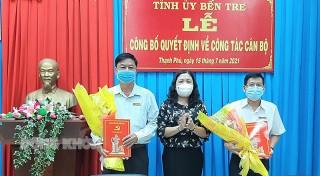 Phó bí thư Thường trực Tỉnh ủy - Chủ tịch HĐND tỉnh Hồ Thị Hoàng Yến công bố quyết định công tác cán bộ tại huyện Thạnh Phú