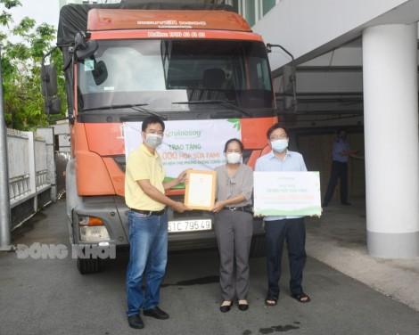 Tiếp nhận 50 ngàn hộp sữa hỗ trợ phòng chống dịch Covid-19