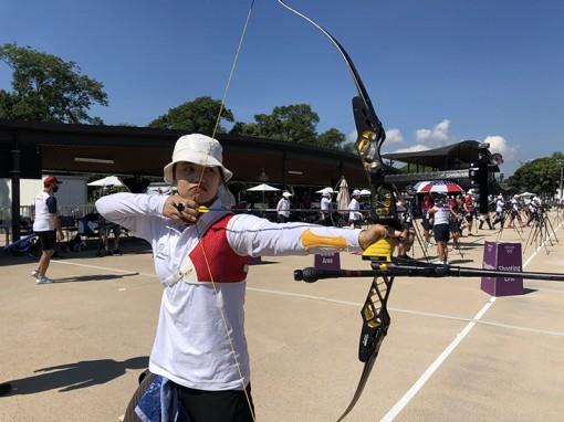 Hotgirl Ánh Nguyệt xếp thứ 49 vòng chia cặp bắn cung Olympic