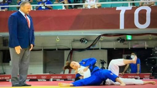 Thanh Thuỷ bị hạ chỉ sau 1 phút 41 giây ở môn judo