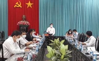 Bí thư Tỉnh ủy Lê Đức Thọ làm việc với Văn phòng Tỉnh ủy