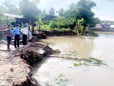 Xây dựng công trình khẩn cấp chống sạt lở bờ sông, xói lở bờ biển