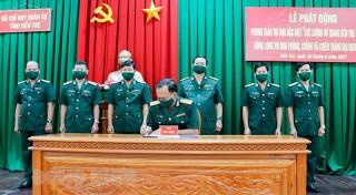Bộ Chỉ huy Quân sự tỉnh phát động thi đua phòng chống dịch Covid-19