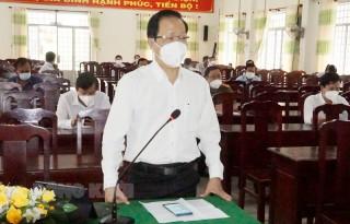 Phó chủ tịch Thường trực UBND tỉnh Nguyễn Trúc Sơn làm việc tại huyện Thạnh Phú về công tác phòng, chống dịch Covid-19