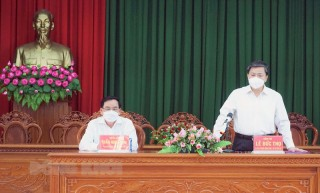 Bí thư Tỉnh ủy làm việc với Ðảng ủy Bộ đội Biên phòng tỉnh