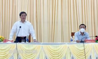 Bí thư Tỉnh ủy Lê Đức Thọ làm việc với Huyện ủy Thạnh Phú