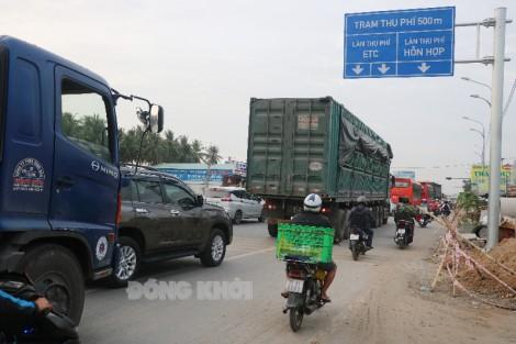 Hơn 1 ngàn xe được gia hạn thời gian sử dụng vé qua Trạm thu phí cầu Rạch Miễu