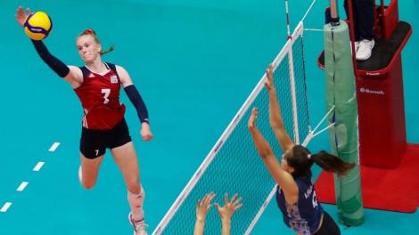 Mỹ suýt thành cựu vương giải bóng chuyền nữ U18 Thế giới