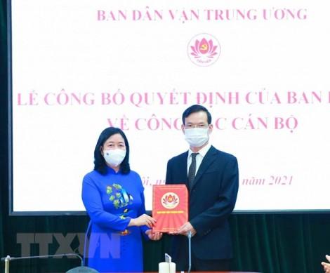 Ông Triệu Tài Vinh được điều động làm Phó trưởng Ban Dân vận Trung ương
