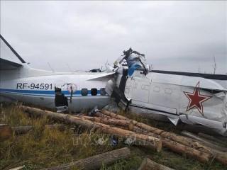 Vụ rơi máy bay ở Nga: Có 7 người sống sót
