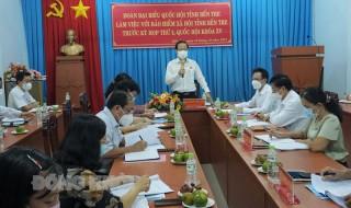 Đoàn đại biểu Quốc hội tỉnh Bến Tre làm việc với Bảo hiểm xã hội tỉnh