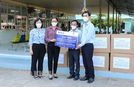 Ngân hàng TMCP Đầu tư và Phát triển Việt Nam tài trợ khoảng 1,38 tỷ đồng cho lực lượng tuyến đầu chống dịch