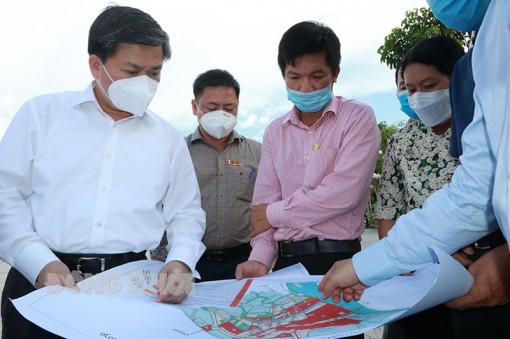 Bí thư Tỉnh ủy Lê Đức Thọ khảo sát thực tế 5 dự án đô thị trên địa bàn TP.  Bến Tre