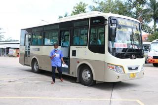 Hai tuyến xe buýt bến xe Bến Tre - chợ Đê Đông và bến xe Bến Tre - Khâu Băng hoạt động trở lại
