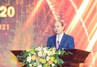 Chủ tịch nước Nguyễn Xuân Phúc dự Lễ trao Giải Báo chí Quốc gia lần thứ XV, năm 2020